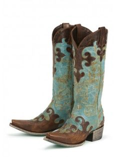 Dawson in Turquoise and Brown Boots