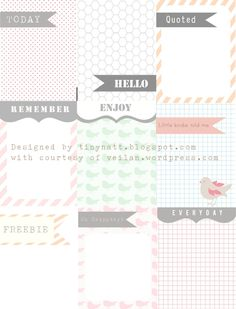 journal cards -- free from miss Anski