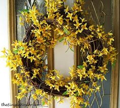 The Single Nester: Two Minute, No Glue, Cheap Spring Wreath