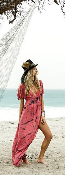 The lovely Amuse Society Next Level Beach Dress is a hand tie dyed maxi with lots of style. Wear it as a fabulous beach coverup or on its own with some bold accessories. This dress is the perfect rosy hue for a beach date night or romantic daytime rendezvous!