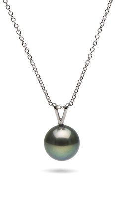 so much beauty in simplicity.  maybe someday <3...by Pure Pearls  Black Freshwater Pearl Solitaire Pendant