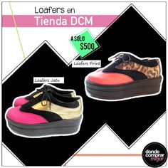 Divinos estos dos pares de zapatos. ¿Cuál tee gusta más? Conseguilos en tienda DCM. www.tiendadcm.com