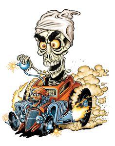 caricature of jeff dunham Cool Car Drawings, Art Drawings, Cartoon Kunst, Cartoon Art, Ed Roth Art, Dibujos Pin Up, Rat Fink, Garage Art, Weird Cars