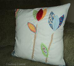 Scrap fabric pillow