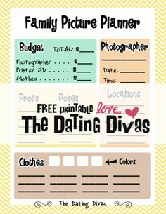 Free family picture planner- plus this post it the jackpot of family picture ideas!