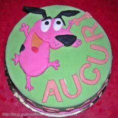 Torta di compleanno Leone il cane fifone