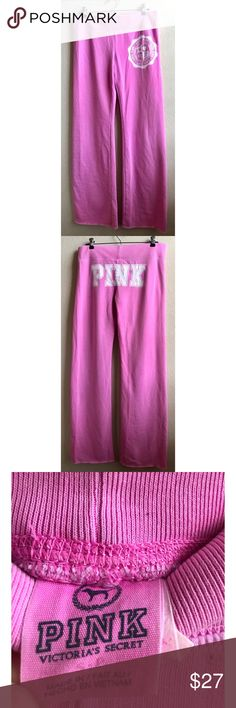 Victoria's Secret Pink sweat pants. Small. Victoria's Secret Pink Pink sweat pants wide leg with logo on butt. Size Small. In great condition. PINK Victoria's Secret Pants Track Pants & Joggers
