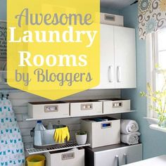 A showcase of blogger laundry rooms at Remodelaholic.