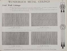 Catalogue page, page 45 of 'Abridged General Catalogue of Metal Ceilings, Wall Linings and Stamped Metal for Exterior and Interior Decoration', Wunderlich Limited, Redfern, New South Wales, Australia, September 1912  Page 45 of 'Abridged General Catalogue of Metal Ceilings, Wall Linings and Stamped ...