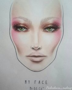 My beauty look with daylight . Facechart is from @mykitco designed by…