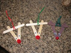 Christmas Crafts for 2 Year Olds | See what we did today: Craft Stick Rudolph Ornament!