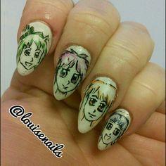 @louisenails /manga / anime / manicure / nails
