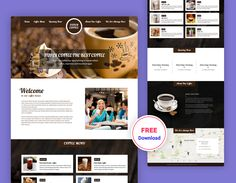 Coffee shop Product Landing PSD Template to present your Coffee shop, Food shop, Tea shop or others business. It's very clean and modern design we make it with our love. We assure that the toode help you to promote and increase your business.   Coffee shop Free Template files are built to be 1170 grid … Powerpoint Template Free, Psd Templates, Coffee Shop Website, Free Website Templates, Grid System, Shopping Websites, Landing, Modern Design, Tea