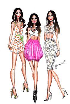Abdel Aziz sisters: Farah, Alice and Nadine