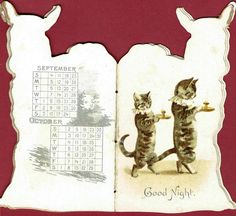 Page from Victorian 'Nanny' Calendar, 1892, by Helena Maguire. Published by Raphael Tuck. No. 355. On eBay.