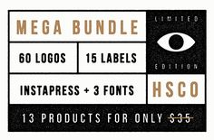 """Check out """"All In One"""" - Super Sale by Hustle Supply Co. on Creative Market - Logo templates, print label templates, Fonts, stock photos and icons! Business Brochure, Business Card Logo, Cafe Logos, Web Design, Graphic Design, Design Art, Minimalist Icons, Logos Ideas"""