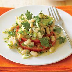 "Tomato ""Bruschetta"" with Tuna and Cannellini Salad - No-Cook Recipes - Sunset"