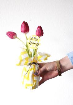 DIY Frühlingssträußchen in Mini-Vase