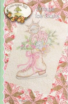 Crabapple Hill Studio Vintage Ice Skate 437 Hand by DebiCreations, $9.99