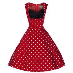 Ophelia Dress - Red Polkadots