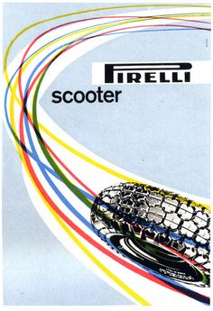 Max Huber - Pirelli scooter, 1957 by laura@popdesign, via Flickr