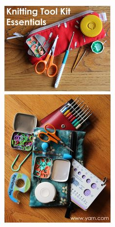 The staff at WEBS - America's Yarn Store share what they keep in their knitting tool kits. Knitting Help, Vogue Knitting, Knitting Kits, Easy Knitting, Knitting Stitches, Knitting Patterns, Creative Knitting, Knitting Ideas, Crochet Tools