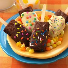 Bake Sale ideas-Brownies on a Stick