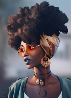 Simi Moonlight Art by Daniela Uhlig on Artstation Black Love Art, Black Girl Art, Black Is Beautiful, Black Girl Magic, Art Girl, Black Girls, Black Women, African American Art, African Art