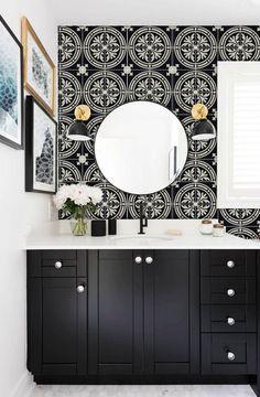Tile Decals - Tiles for Kitchen/Bathroom Back splash - Floor decals - Barolo Vinyl Tile Sticker Pack color Black