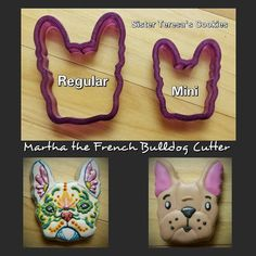 Martha the French Bulldog Cookie Cutter or by BobbisCookiesCutters