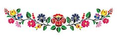 Hungarian Embroidery Patterns A beautiful hungarian Kalocsai floral pattern. Hungarian Embroidery, Learn Embroidery, Crewel Embroidery, Ribbon Embroidery, Machine Embroidery, Bordado Popular, Embroidery Designs, Embroidery Kits, Stitch Head