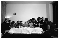 IMAGINA BOGOTA- Hernán Díaz  La última cena (ca. 1960)  [Elmer Vásquez, Germán Moure, Lily Hurtado, Germán Vargas, Beatriz Piedrahita, Édgar Negret, Luis Vicens, Héctor Fontán, Lilian Peñuela, Rafael Moure, Susie de Vargas, Enrique Grau, Hernán Díaz] Archivo fotográfico de Hernán Díaz, Biblioteca Luis Ángel Arango. Hurtado, Wordpress, Photo Wall, Frame, Home Decor, Last Supper, Filing Cabinets, Culture, Paintings