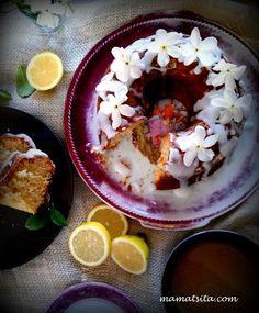 Κέικ λεμόνι στο τσακ μπαμ - συνταγή mamatsita.com homemade recipes Acai Bowl, Nom Nom, Deserts, Lemon, Pudding, Fruit, Breakfast, Recipes, Food