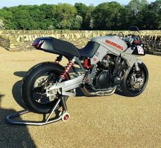Reposted from - I've had a long standing obsession with the original Suzuki Katana since I saw the prototype poster… Concept Motorcycles, Vintage Motorcycles, Custom Motorcycles, Suzuki Bikes, Suzuki Motorcycle, Motorcycle Paint, Motorcycle Types, Stunt Bike, Custom Sport Bikes