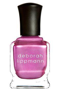 Yes, to a metallic purple mani | Deborah Lippmann 'Luxe Chrome' nail color.