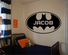 Personalized Vinyl Batman Wall Decal by TheMadSigntist on Etsy