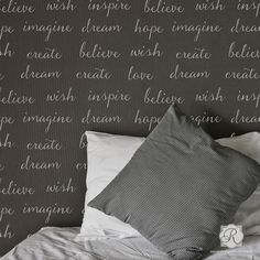 Dream Lettering Wall Stencils | Inspirational Wall Quotes | Royal Design Studio
