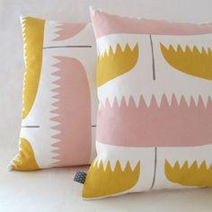 tulip pillow by Pikku...Valerie Ormiston...via Remodelista