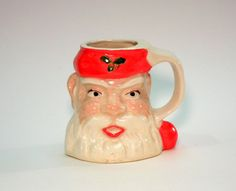 Vintage Mug Christmas Retro Santa by HogHeavenVintage on Etsy, $12.00
