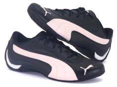 Puma - Drift Cat - Black / Pink Smooth Leather UppersRubber Grip Extended Sole5 Eyelet Lace Up http://www.comparestoreprices.co.uk/shoes/puma--drift-cat--black--pink.asp