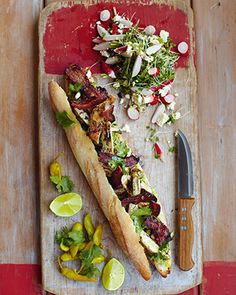 Jamie Olivers 15minute mexican blt, chillies, guacamole & salad