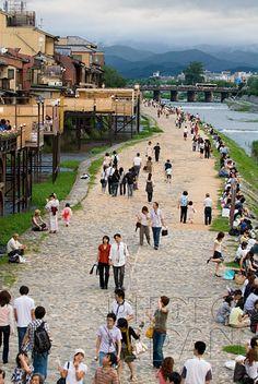 Japan - Summertime along the Kamogawa River in Kyoto - Photo by Photo Japan