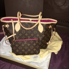 LOUIS VUITTON NEVERFULL PM MONO FUCHSIA!!! NEW WITH TAGS ... I SELL ONLY NEVERFULL...NO POCHETTE Louis Vuitton Bags