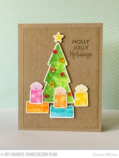 Trim the Tree, Gift Tag Greetings, Trim the Tree Die-namics - Donna Mikasa  #mftstamps