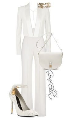 A fashion look from March 2016 by miss-grace-ellen featuring BCBGMAXAZRIA, Yves Saint Laurent, Tom Ford, Mulberry, Diamond Star and Chanel All White Outfit, White Outfits, Classy Outfits, Stylish Outfits, White Fashion, Look Fashion, Fashion Outfits, Womens Fashion, Fashion Tips