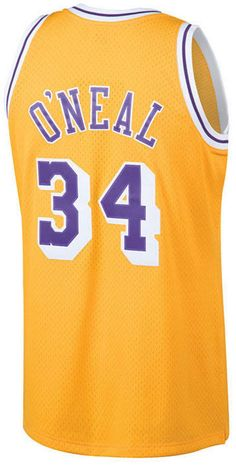 368d7a51c39 Mitchell & Ness Men's Shaquille O'Neal Los Angeles Lakers Hardwood Classic  Swingman Jersey