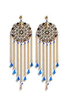 Boucles Dreamcatcher Bleues via Rubambelle. Click on the image to see more!
