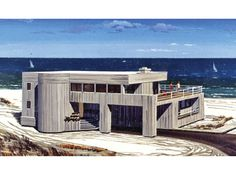 ePlans Contemporary House Plan – Upside Down Plan for that View Lot– 2025 Square Feet and 4 Bedrooms from ePlans – House Plan Code HWEPL75931