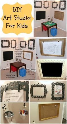 Art Studio For Kids - fun DIY ideas for creating a little art studio at home for children.
