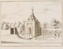 Vrouwenpoort 1728  Prenten (Gelders Archief)
